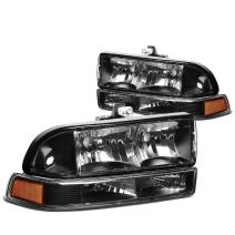 DNA MOTORING HL-OH-S10984P-BK-AM Headlight Assembly, Driver and Passenger Side