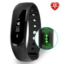 BIGFOX Activity Tracker Heart Rate Monitor ID101 HR Fitness Tracker Watch Bluetooth 4.0, IP67 Waterproof Pedometer Wristband With Calorie Counter/Step Counter/Camera remote/Music control