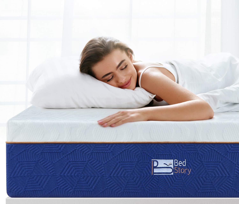 BedStory 12 Inch Lavender Memory Foam Mattress, Comfort Memory Foam Mattress Queen