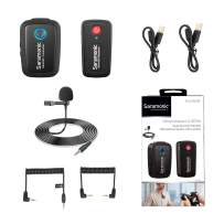 2.4GHz Wireless Lavalier Microphone System, Saramonic Blink500 B1 Dual-Channel Mic for DSLR Camera, Mirrorless and Smartphone Compatible with YouTube Facebook Live Recording Vlogging (TRS & TRRS)