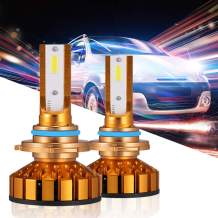 HOLOON 9006 Led Headlight Bulbs, 10000LM Extremely Bright CSP Chips Car HB4 LED Headlight Bulbs All-in-One Conversion Kit - 6000K Cool White Light