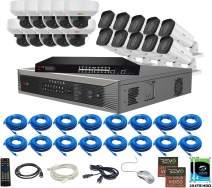 Revo America Ultra Plus 32 Ch. 8TB HDD 4K IP NVR Video Security System - 10 x 4K IP Bullet Cameras & 10 x 4K IP Vandal Dome Cameras - Remote Access via Smart Phone, Tablet, PC & MAC