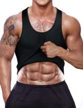 RIBIKA Men's Compression Tank Top Waist Trainer Vest Neoprene Sauna Sweat Body Shaper