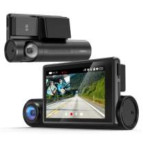 """COOAU Dual 1080P Dash Cam with GPS and Wi-Fi, 3"""" OLED Touch Screen,Sony STARVIS Night Vision, Front and Inside in Car DVR Camera, Parking Mode, Support 128GB Card"""