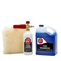 Adam's Foam Cannon Car Wash Kit - Produces Thick, Luxurious Foam - Plush, Synthetic Wool Pad Ensures a Swirl and Scratch Free Wash - Pressure Washer Required (Car Shampoo Kit)