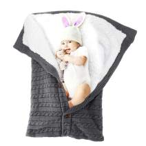 XIANRUI Baby Swaddle Blanket Winter Stroller Blanket for Infant, Receiving Blankets Sleeping Bag for Newborn and Toddlers