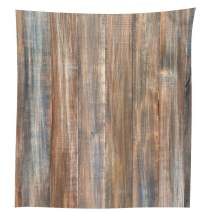 """QCWN Wood Grain Tablecloth,Brown Wooden Retro Boho Style Tablecloth,Dining Room Kitchen Rectangular Table Cover.Multi(21, 55"""" 118"""")"""