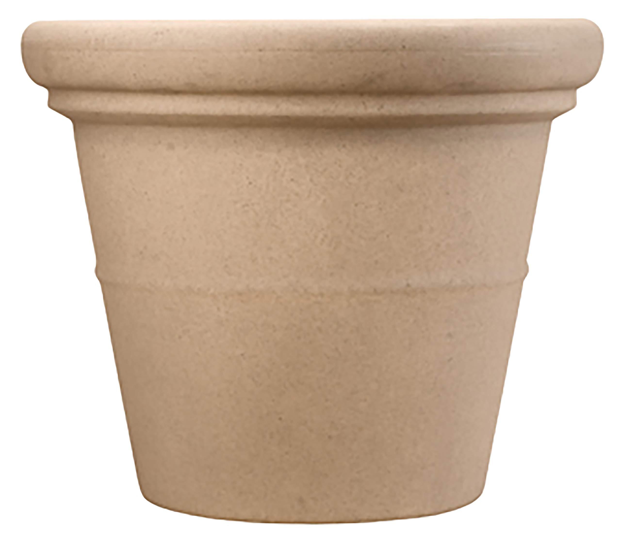 Akro-Mils TEA30000A34 Terrazzo Round Planter with Heavy Rim, Sandstone, 30-Inch