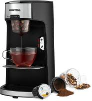 Gourmia GCM3600 3 in 1 Coffee & Tea Maker -K-Cup Pod, Loose Leaf Tea & Ground Coffee Compatible -Single Serve Machine -Automatic -Removable Filters & Adapters -16 oz Water Reservoir -1300W -Black