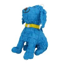 Lytio Dog Pinata Blue Smiling Pup with Yellow Collar Ideal for Animal Themed Parties, Center Piece, Photo Prop, Décor, and Mexican Piñata Game