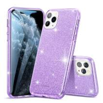 ESR Glitter Case Compatible for iPhone 11 Pro Max Case, Glitter Sparkle Bling Case [Three Layer] for Women [Supports Wireless Charging] for iPhone 11 Pro Max (2019 Release), Purple