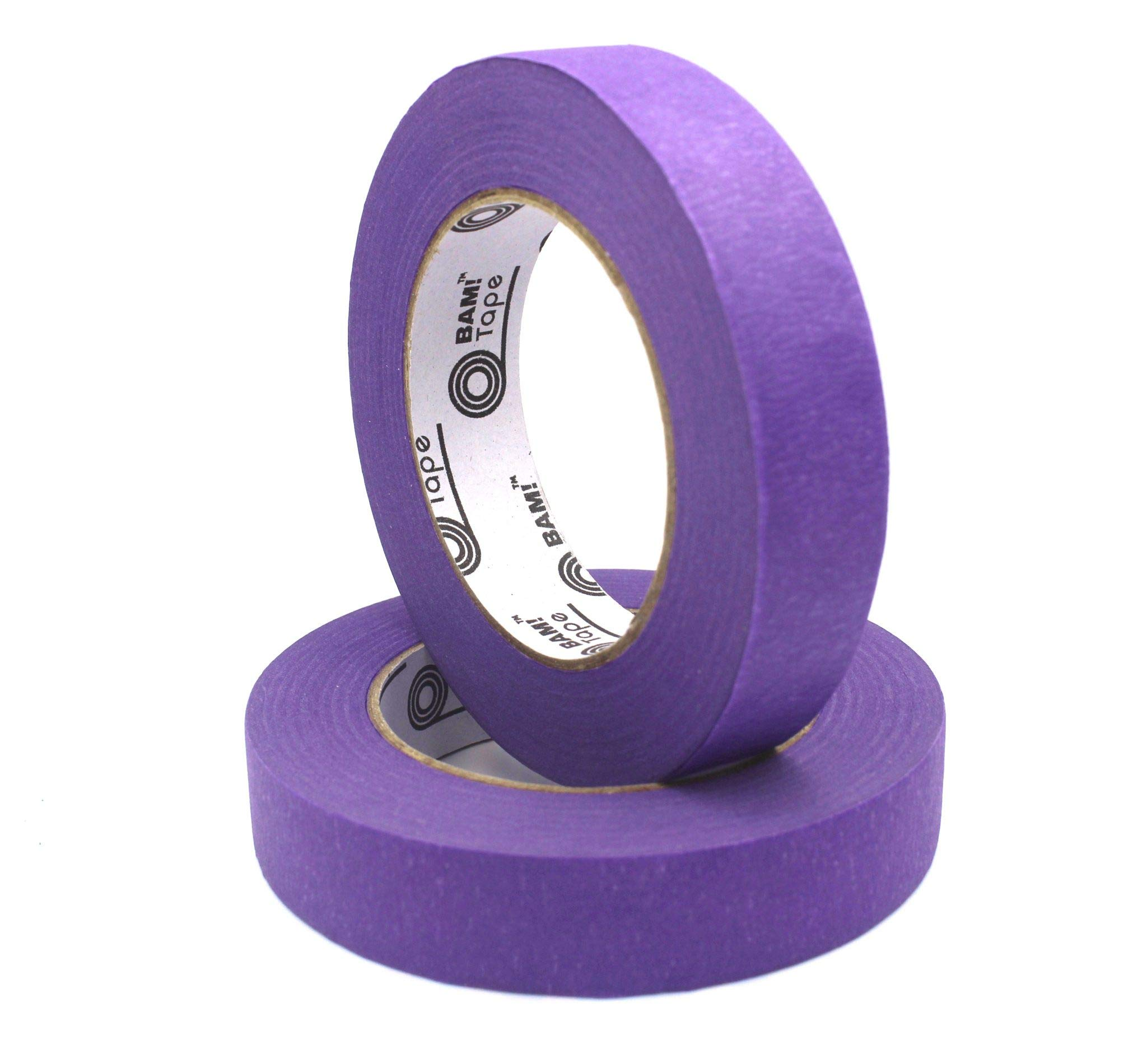 Purple Colored Masking Tape by BAM! Tape   Arts and Crafts Tape   STEM Preschool Learning   Kids Art Supplies and Crafting Kit   Painter Tape   2 Large Rolls 60 Yards by 1 Inch Each