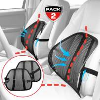 MAXXPRIME Lumbar Support, Upgraded 2 Pack Mesh Back Support Cushion for Car, Home and Office Chair, Double-Layer Mesh, Air Flow Breathable, Adjustable and Comfortable