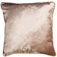 McAlister Textiles Shiny Velvet Cushion Cover | Mink Beige Metallic Look Designer Soft Hand-Made Bedroom Decor Throw Sofa Pillow for Bedroom Sofa Living Room | Dimensions - 26 x 26 Inches