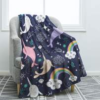 "Jekeno Narwhals Blanket Throw Smooth Soft Blanket for Sofa Couch Bed Office 50""x60"""