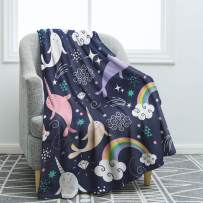 """Jekeno Narwhals Blanket Throw Smooth Soft Blanket for Sofa Couch Bed Office 50""""x60"""""""
