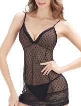 Avidlove Women Lace Lingerie for Women Babydoll Sexy Nightie Mesh Sleepwear