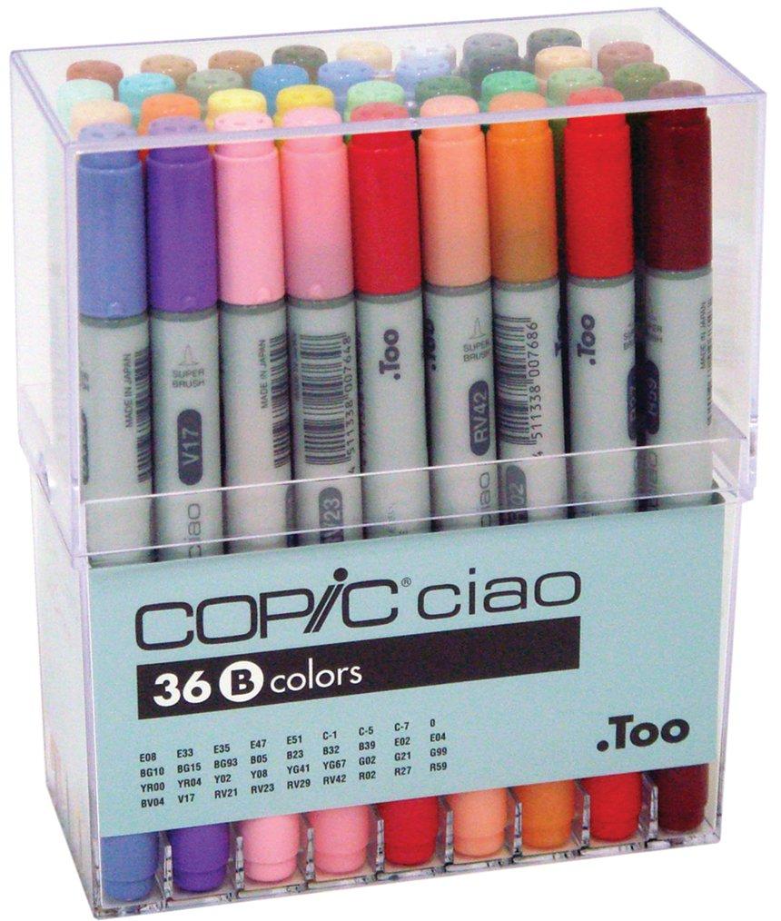 Copic I36B Ciao Markers Set B, 36-Piece