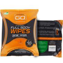 HyperGo: Full Body Wipes - Body Cleansing Wipes - Clean Off Odor and Sweat - Refresh and Moisturize Skin - All Natural Ingredients - Unscented