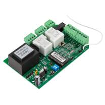 CO-Z Universal Circuit Board for Sliding Gate Openers, Main Electronic Control Board for Sliding Gate Motors and Accessories, Replacement Gate Operator Logic Board, 433.92MHz Remote Control Included