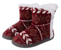 Shoeslocker Women's Soft Comfy Bootie Slippers