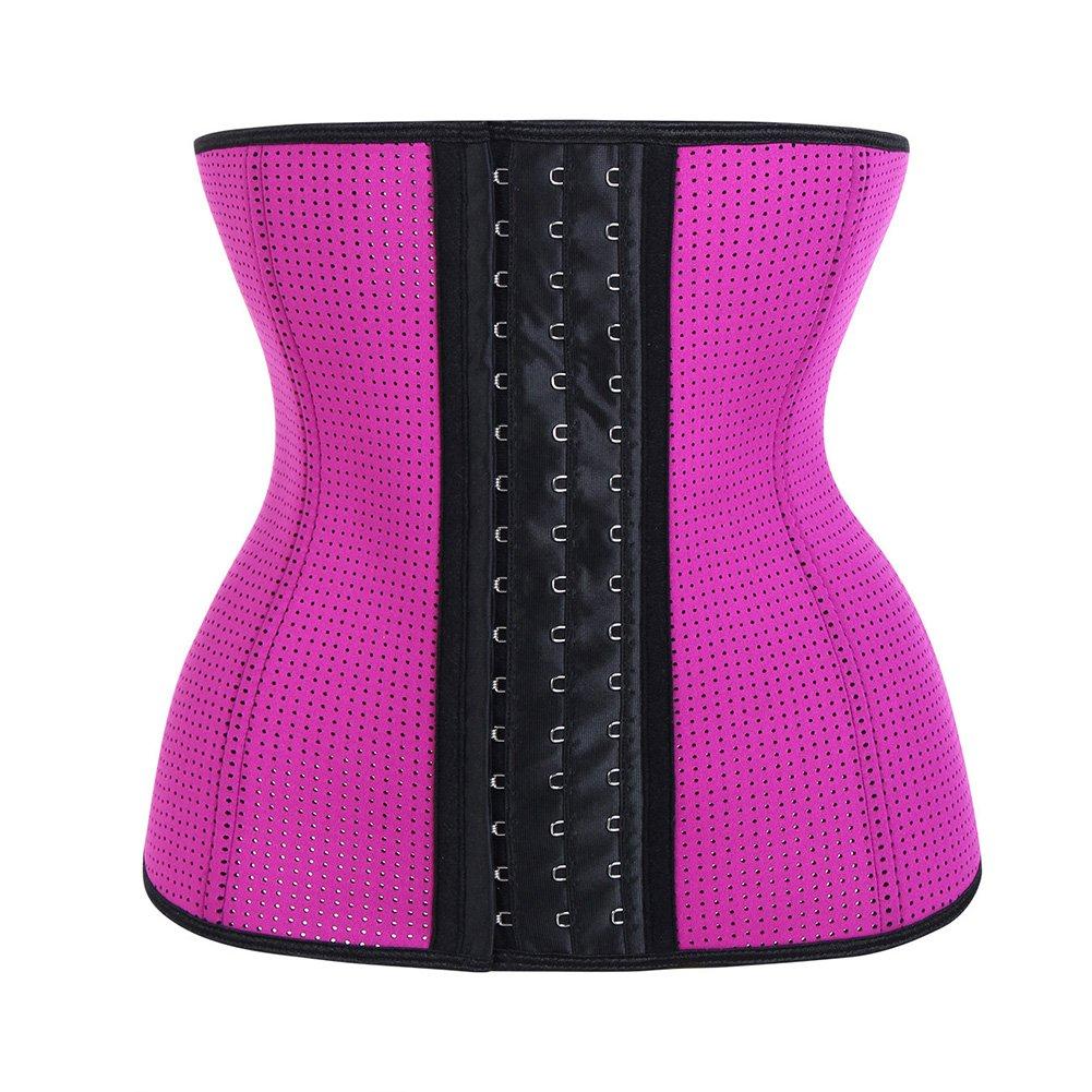 Feelingirl Women's Underbust Neoprene Sport Girdle Waist Trainer Breathable Breathable Corset Hourglass Body Shaper S