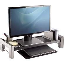 Fellowes Professional Series Flat Panel Workstation (8037401),Black/Silver