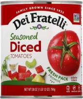Dei Fratelli Seasoned Diced Tomatoes - All Natural - 5th Generation Recipe (28 oz. cans; 12 pack)