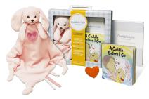 CuddleBright Experience Bunny Lovie Kit, Includes Security Blanket, Perfect Baby Gift for Newborns/Toddlers, Created by Child Development Experts