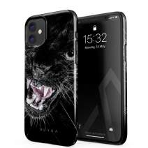 BURGA Phone Case Compatible with iPhone 11 - Fierce Panther Savage Wild Cat Cute Case for Women Thin Design Durable Hard Plastic Protective Case