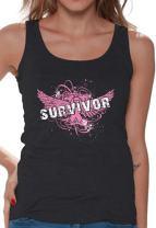 Women's Survivor Tank Top Breast Cancer Awareness Tank