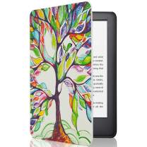CoBak Case for All New Kindle 10th Generation 2019 Released - Will Not Fit Kindle Paperwhite or Kindle Oasis, Premium PU Leather Smart Cover with Auto Sleep and Wake, Lucky Tree