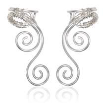 Elf Ear Cuffs Earrings, OwMell Ear Cuff No Piercing Ear Cuff Non Pierced Hypoallergenic Earrings Handmade
