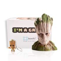 Boxiti Baby Groot Guardians of The Galaxy Action Figure Flowerpot with Gift Groot Key Ring, Pen Pot Model 5