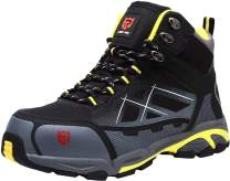 LARNMERN Men's Safety Steel Toe Work Shoes Stylish Indestructible Boots