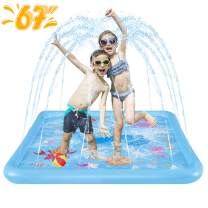 "HLAOLA Sprinkler for Kids Splash Pad Play Mat 67"" Inflatable Baby Wadding Pools Spray Mat Fun Summer Outdoor Water Toys Gifts for Boys Girls Ocean Paradise Theme Swimming Pool."