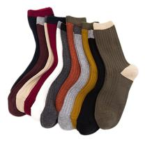 Lian LifeStyle Attractive Women's 4 Pairs Cotton Crew Socks Size 6-9 HR1751