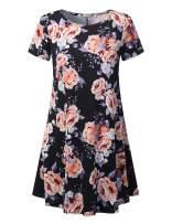 URBANCLEO Womens Short Sleeve Mini T-Shirt Dress