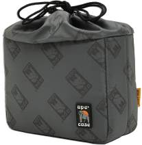 Ape Case ACQB33GY Cubeze Gray Protective Flexible Padded Camera Insert Storage Bag With Removable And Adjustable Padded Inserts, Drawstring Closure, Hi-Vis Yellow Interior, For DSLR Or Mirrorless Came