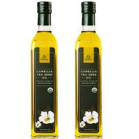 Sunplan Organic Camellia Oil – All Natural Camellia Tea Seed Oil - Extra Virgin Cold Pressed Cooking Oil (17 oz in 2 Pack)