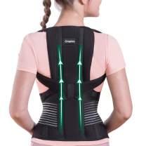 Omples Posture Corrector for Women and Men Back Brace Straightener Shoulder Upright Support Trainer for Body Correction, Medium (Waist 34-38 inch)