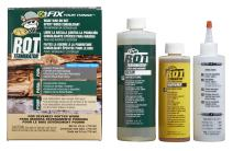 PC Products 240168 PC-Rot Terminator Epoxy Wood Hardener, Two-Part 24oz in Two Bottles, Amber 240618, 24 oz