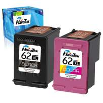 HavaTek Remanufactured Ink Cartridges Replacement for HP 62 XL 62XL to Used for HP Envy 7640 7645 5660 5540 5661 5640 5549 5663 OfficeJet 5740 250 200 5746 5745 Printer (1 Black, 1 Color, 2 Pack)