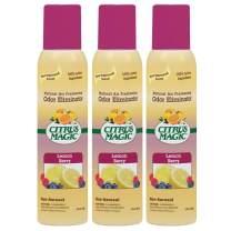 Citrus Magic Natural Odor Eliminating Air Freshener Spray Lemonberry, Pack of 3, 3.0-Ounces Each