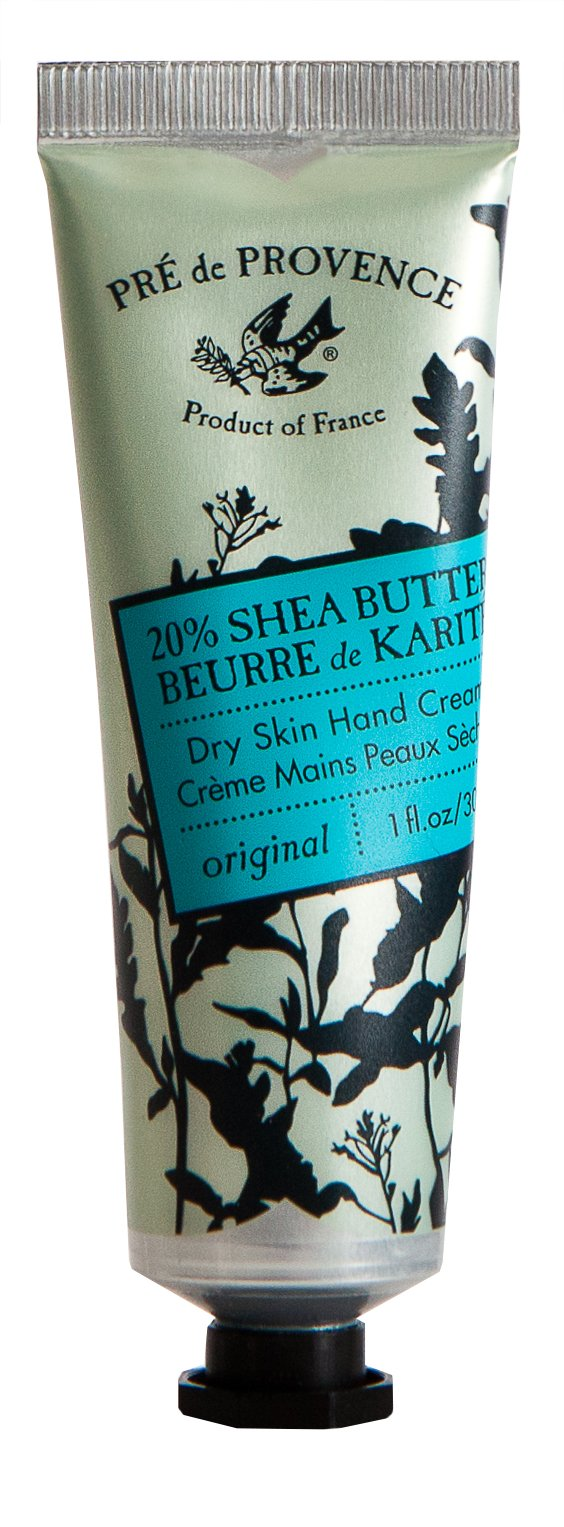 Pre de Provence 20% Natural Shea Butter Hand Cream, For Repairing, Soothing, Moisturizing Dry Skin - Unscented (1 oz)