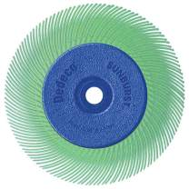 Dedeco Sunburst - 6 Inch TC Radial Bristle Discs - 1/2 Inch Arbor - Industrial Thermoplastic Rotary Cleaning and Polishing Tool, Ultra-Fine 1 Micron (1 Pack)