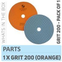 "Stadea PPW195D Diamond Polishing Pads 5"" For Concrete Terrazzo Marble Granite Countertop Floor Wet Polishing, Grit 200"