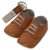 Baby Boys Oxford Shoes with Soft Sole Prewalkers with Matching Belt (Newborn/Infant)