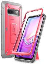 SUPCASE Unicorn Beetle Pro Series Designed for Samsung Galaxy S10 Case (2019 Release) Full-Body Dual Layer Rugged with Holster & Kickstand Without Built-in Screen Protector (Pink)