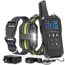 FunniPets Dog Training Collar, Dog Shock Collar 2600ft Remote Range Waterproof Shock Collar for Medium and Large Dogs with 4 Training Modes Light Static Shock Vibration Beep